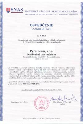 osvedčenie o akreditácii